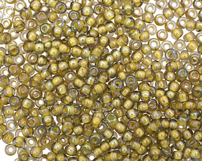TOHO Luster Black Diamond (with Opaque Yellow Lining) Round 8/0 Seed Bead