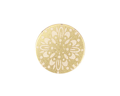 Lillypilly Gold Kaleidoscope Anodized Aluminum Disc 19mm, 22 gauge