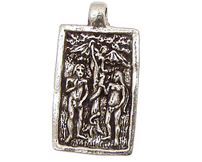 Green Girl Pewter Adam and Eve 20x35mm