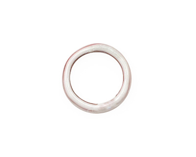 C-Koop Enameled Metal White Large Ring 16-17mm