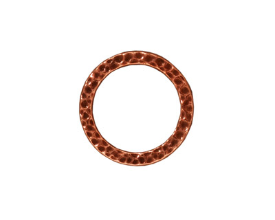 TierraCast Antique Copper (plated) Medium Hammertone Ring 13mm