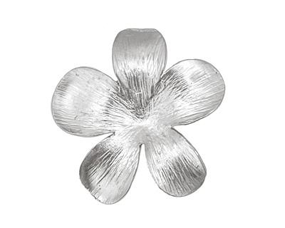 Ezel Findings Rhodium (plated) 5 Petal Flower Link 27mm