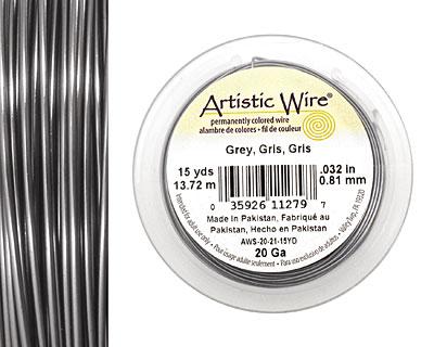 Artistic Wire Grey 20 gauge, 15 yards