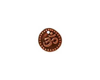 TierraCast Antique Copper (plated) Aum Charm 11mm
