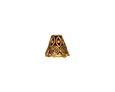 TierraCast Antique Gold (plated) Spiral Cone 8x9mm