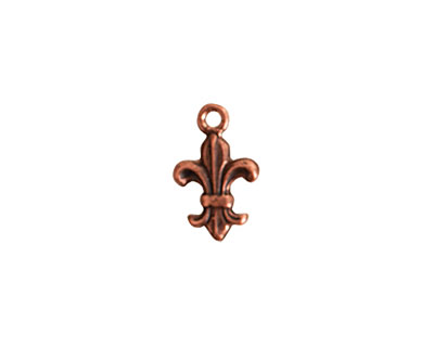 Nunn Design Antique Copper (plated) Mini Fleur Charm 10x15.5mm