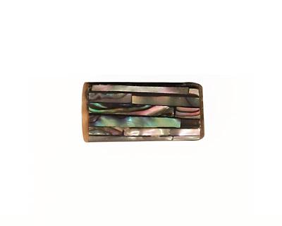 Abalone Mosaic Cylinder 20x10mm