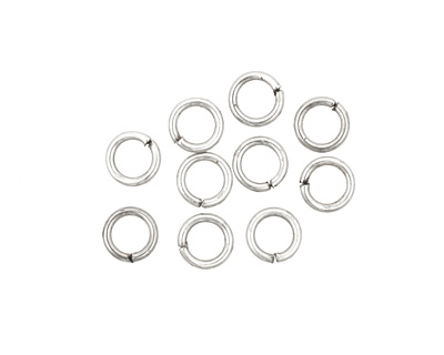 Antique Silver (plated) Round Jump Ring 6mm, 18 gauge