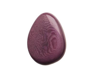 Tagua Nut Violet Flat Pebble 35-45x28-37mm