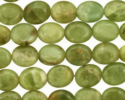 Light Green Garnet Flat Oval 10x8mm