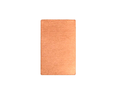 Copper Rectangle Blank 14x22mm