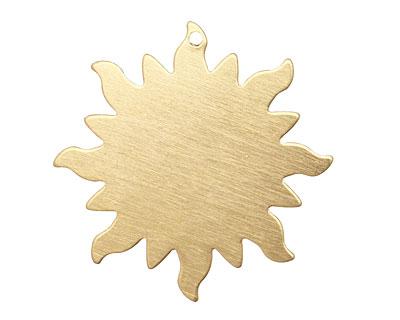 Brass Dancing Sun Blank 32mm