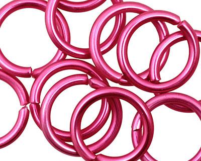 Pink Anodized Aluminum Jump Ring 18mm, 12 gauge (13.1mm inside diameter)