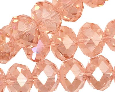 Rosaline AB Crystal Faceted Rondelle 14mm