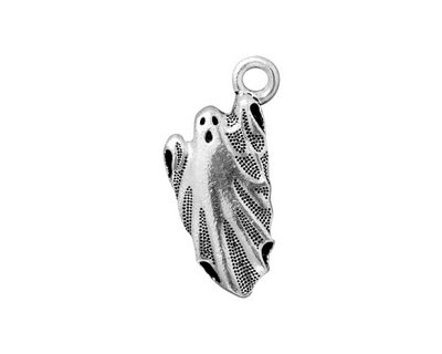 TierraCast Antique Silver (plated) Ghost Charm 12x24mm