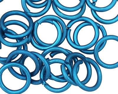 Blue Anodized Aluminum Jump Ring 14mm, 14 gauge (9.6mm inside diameter)