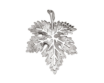 Ezel Findings Rhodium (plated) Fancy Maple Leaf Link 28x23mm