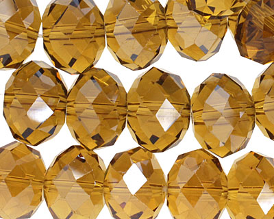 Ale Crystal Faceted Rondelle 14mm