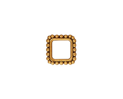 TierraCast Antique Gold (plated) Large Beaded Square 11mm