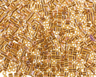 TOHO Gold Lined Topaz Hex 11/0 Seed Bead