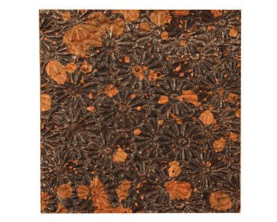 Lillypilly Mottled Raised Flower Embossed Patina Copper Sheet 3