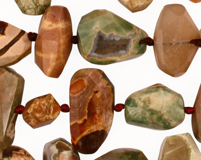 Thunder Egg Agate Faceted Nugget 7-18x9-18mm