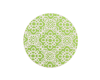 Lillypilly Lime Green Baroque Anodized Aluminum Disc 25mm, 24 gauge