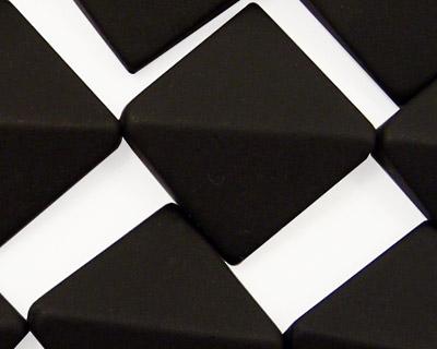 Brazil Black Stone (matte-finish) Cut Diamond 26mm