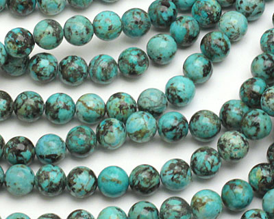 African Turquoise (AA) Round 8mm