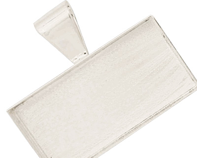 Silver (plated) Rectangle Bezel 43x22mm