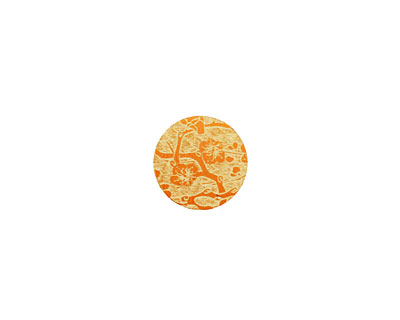 Lillypilly Orange Cherry Blossom Anodized Aluminum Disc 11mm, 24 gauge