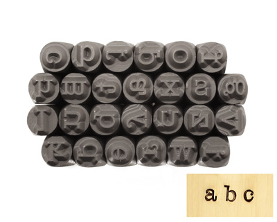 American Type Lowercase Letters Metal Stamp Set 3mm