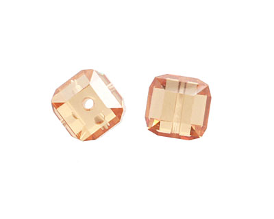 Champagne Faceted Cube 8mm
