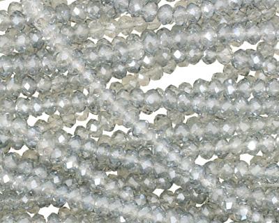 Glacier Crystal Faceted Rondelle 3mm