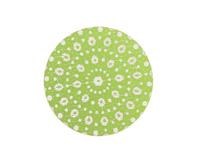 Lillypilly Lime Green Crochet Anodized Aluminum Disc 25mm, 24 gauge