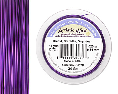 Artistic Wire Silver Plated Orchid 24 gauge, 15 yards