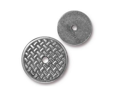 TierraCast Antique Pewter (plated) Woven Disk 18mm