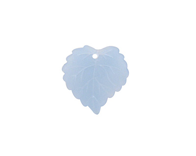 Matte Light Sapphire Lucite Ivy Leaf 16mm