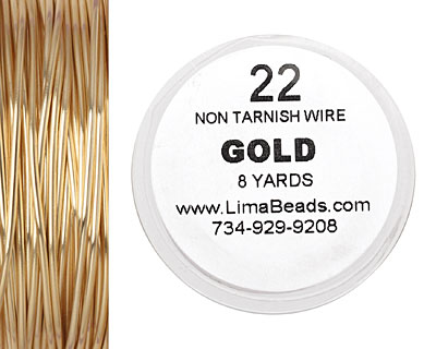 Parawire Non-Tarnish Gold 22 gauge, 8 yards