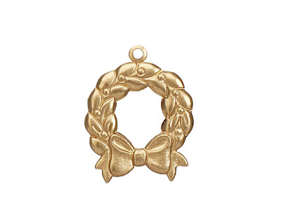 Brass Wreath 18x23mm
