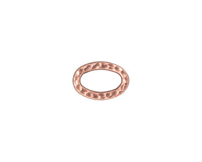 TierraCast Antique Copper (plated) Small Hammertone Oval Ring 12x8mm