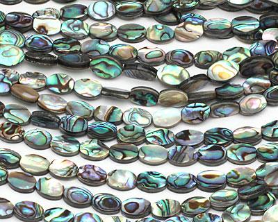 Abalone Flat Oval 10x7mm