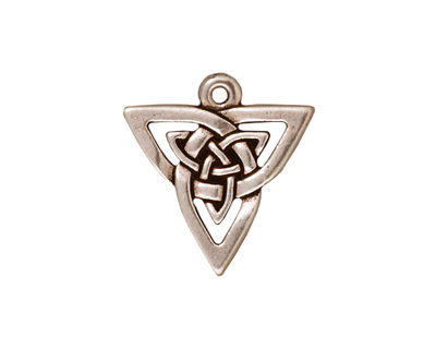 TierraCast Antique Silver (plated) Open Triangle Pendant 20x21mm