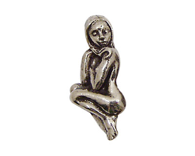 Green Girl Pewter Naked Lady 30x14mm