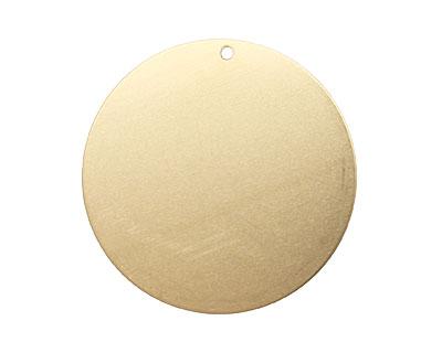 Brass Circle Blank Tag 38mm