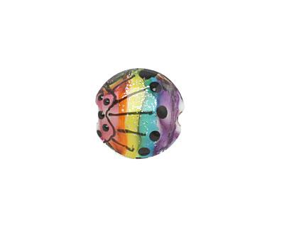 Grace Lampwork Rainbow Balloons Lentil 15mm