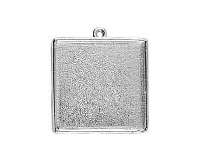 Nunn Design Sterling Silver (plated) Grande Square Bezel Pendant 34x39mm