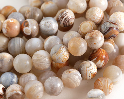 Natural Agate (light) Round 10mm