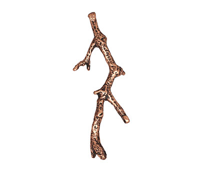 Ezel Findings Antique Copper 4-Hole Branch Link 53x25mm