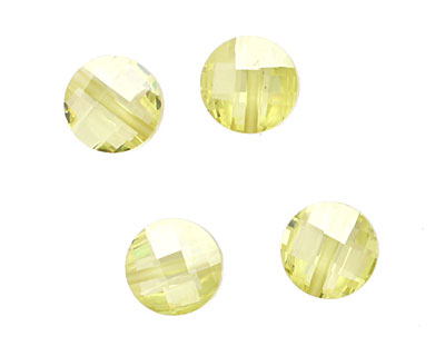 Lemon Ice Faceted Coin 10mm